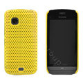 Mesh case cover for Nokia C5-03 - yellow