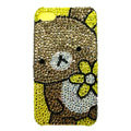 Bling green Bear crystal case for iPhone 4G