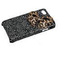 Bling Leopard bowknot crystal case for iPhone 4G