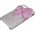 Bling pink bowknot crystal case for iPhone 4G