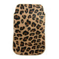 Leopard Leather holster case for Nokia X7 - gold