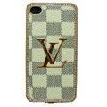 Classic Plaid LV bling crystal metal case for iPhone 4G