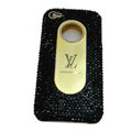 LV Bling crystal hard case for iPhone 4G - black EB001