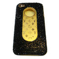 LV Bling crystal hard case for iPhone 4G - black