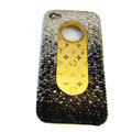 LV Bling crystal hard case for iPhone 4G - gradient black