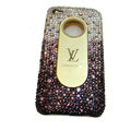 LV Bling crystal hard case for iPhone 4G - gradient purple