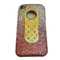 LV Bling crystal hard case for iPhone 4G - pink