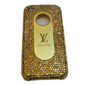 LV Bling crystal hard case for iPhone 4G - yellow