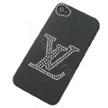 LV hard case bling crystal cover for iPhone 4G - black