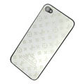 LV Metal back cover case for iPhone 4G