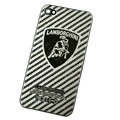 Metal back cover case for iPhone 4G - Cow