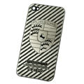 Metal back cover case for iPhone 4G - Stripe