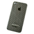 Metal back cover case for iPhone 4G - black Dot