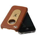 LV leather holster case cover for iPhone 4G - EB002