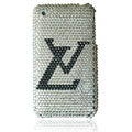 LV Bling crystal case for iPhone 3G/3GS - white
