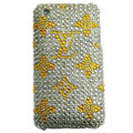 LV Bling crystal case for iPhone 3G/3GS - yellow