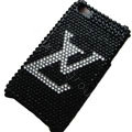 LV Bling crystal case for iPhone 4G - black