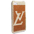 LV Bling crystal case for iPhone 4G - brown