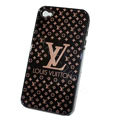 LV ultrathin hard back cover for iPhone 4G - black