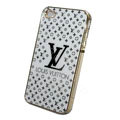 LV ultrathin hard back cover for iPhone 4G - white