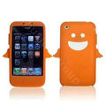Angel and Devil Silicone Case for iPhone 3G/3GS - Angel orange