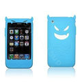 Angel and Devil Silicone Case for iPhone 3G/3GS - Devil blue