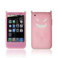Angel and Devil Silicone Case for iPhone 3G/3GS - Devil pink