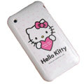Red Heart Hello Kitty Silicone Cases Covers for iPhone 3G/3GS