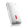 Capdase Silicone Cases Covers for iPhone 3G/3GS - white