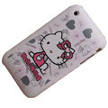 Hello Kitty Silicone Cases Covers for iPhone 3G/3GS - Gray
