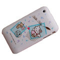 Hello Kitty Silicone Cases Covers for iPhone 3G/3GS - blue