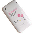 Hello Kitty Silicone Cases Covers for iPhone 3G/3GS - pink