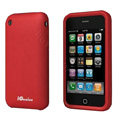 iGenius Silicone Cases Covers for iPhone 3G/3GS - red