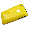 Ultrathin hard back cases covers for iPhone 3G/3GS - yellow