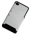 Amass Stand Hard Back Cases Covers for iPhone 4G - black edge