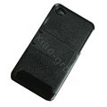 Amass Stand Hard Back Cases Covers for iPhone 4G - black