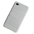 Amass Stand Hard Back Cases Covers for iPhone 4G - white