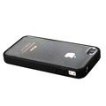 Color Covers Hard Back Cases for iPhone 4G - black