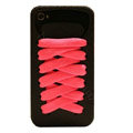 ISHOES Shoelace silicone cases covers for iPhone 4G - black