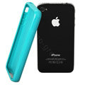 TPU material silicone cases covers for iPhone 4G - Sky Blue