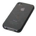 TPU material silicone cases covers for iPhone 4G - black