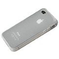 TPU material silicone cases covers for iPhone 4G - white
