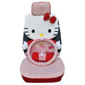 Hello Kitty Auto Front Rear Car Seat Cover sets - red