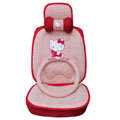 Hello Kitty Auto ice silk Car Seat Covers - red
