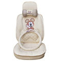 Mickey Mouse Auto ice silk Car Seat Covers - beige