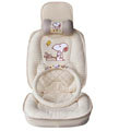 Snoopy Auto ice silk Car Seat Covers - beige