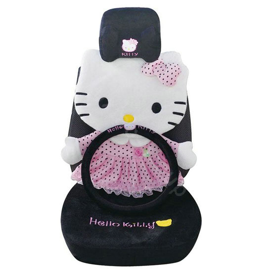 black hello kitty seat covers 2017 2018 best cars reviews. Black Bedroom Furniture Sets. Home Design Ideas