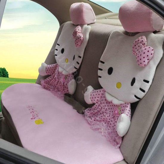 NAMEHello Kitty Universal Car Seat Covers Sets 12 Pieces