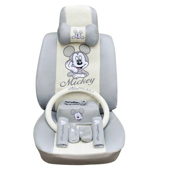 Buy Wholesale Mickey Mouse Ice Silk Car Seat Covers Sets