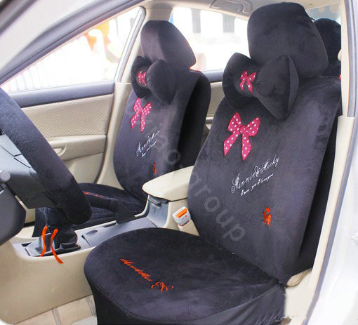 buy wholesale mickey mouse plush fabrics car seat covers sets black eb004 car seat covers. Black Bedroom Furniture Sets. Home Design Ideas